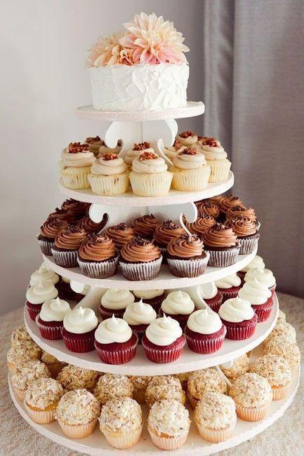 Tortas modernas: con cupcakes 6