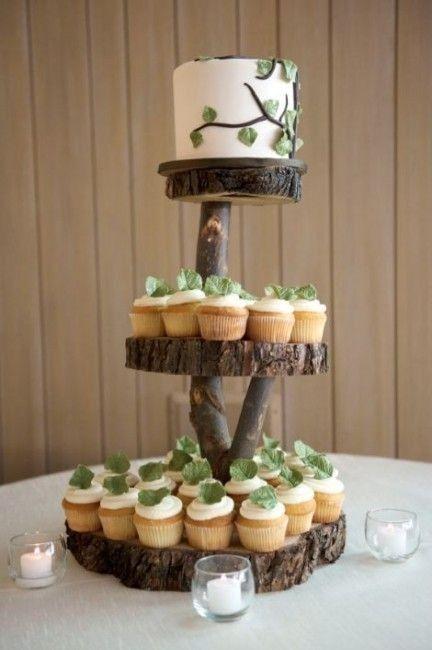 Tortas modernas: con cupcakes 7