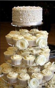 Tortas modernas: con cupcakes 9