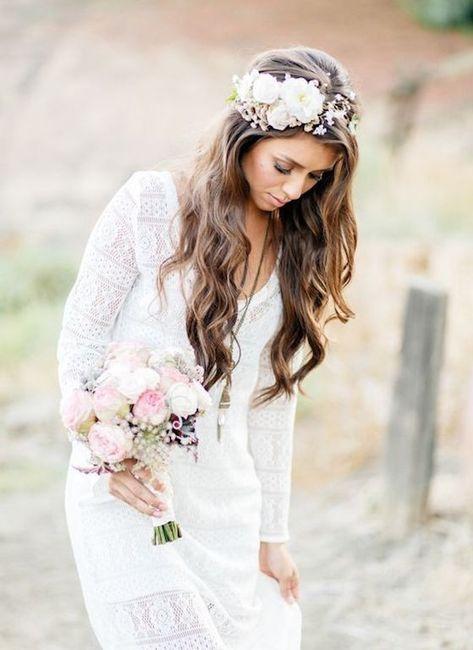 Peinados De Novia Moderna Pelo Suelto - Pelo-suelto-novias