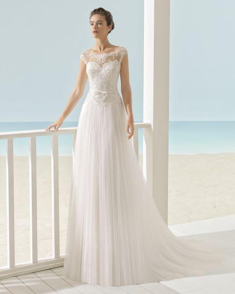 10 vestidos de novia con falda plisada 2