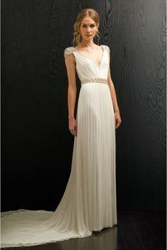 10 vestidos de novia con falda plisada 3
