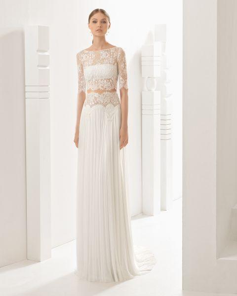 10 vestidos de novia con falda plisada 5