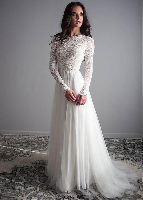 10 vestidos de novia con falda plisada 7
