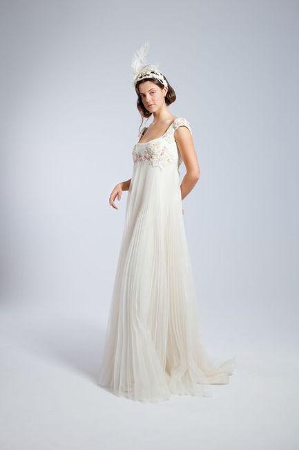10 vestidos de novia con falda plisada 8
