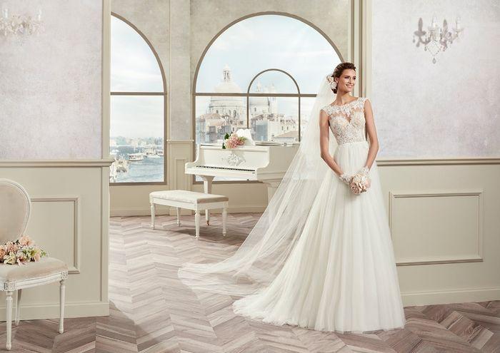 10 vestidos de novia con falda plisada 9