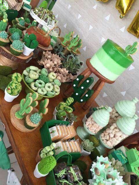 Mesa dulce temática: Cactus 1