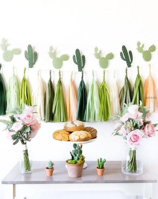 Mesa dulce temática: Cactus 3