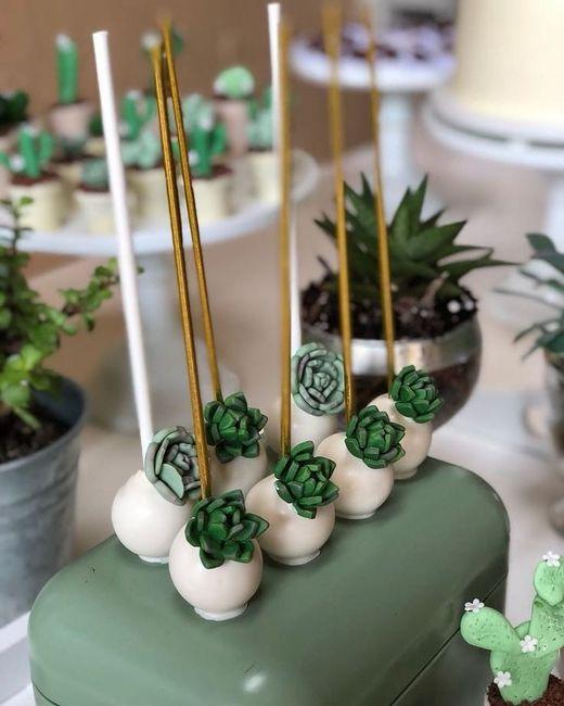 Mesa dulce temática: Cactus 4