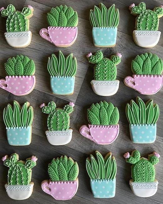 Mesa dulce temática: Cactus 6