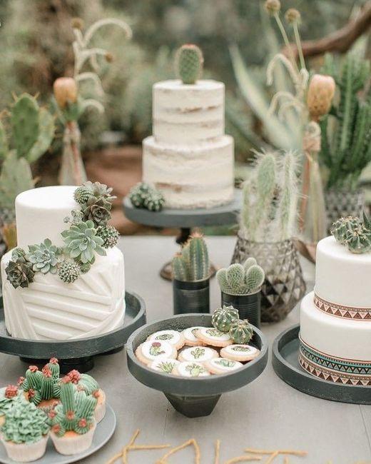 Mesa dulce temática: Cactus 10