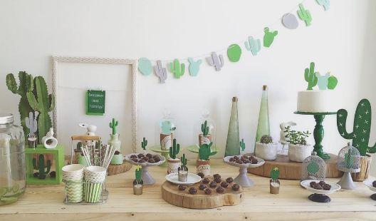 Mesa dulce temática: Cactus 14