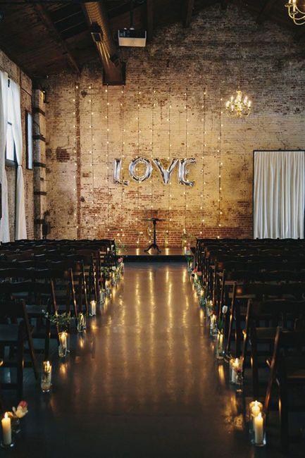 Ceremonias en interior: decoración 3