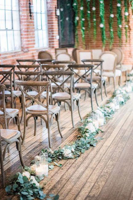 Ceremonias en interior: decoración 16
