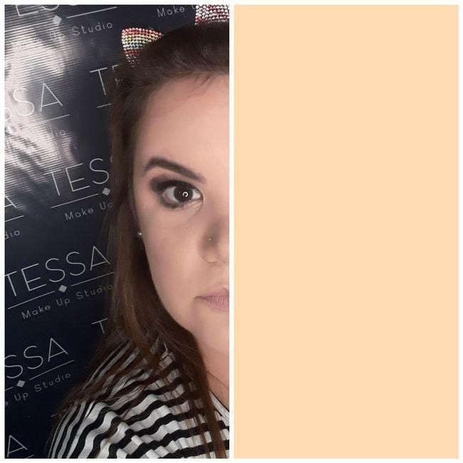 Prueba de maquillaje y peinado 5
