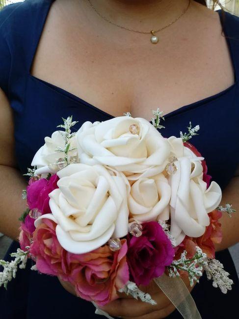 Ramo flores de tela o naturales? 2