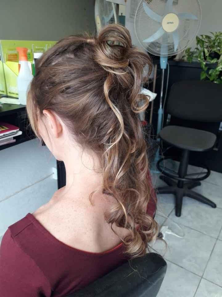 Primera prueba de peinado ! Ya a 35 dias - 2