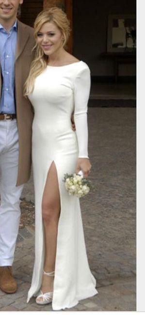 Vestidos de matrimonio civil de famosas