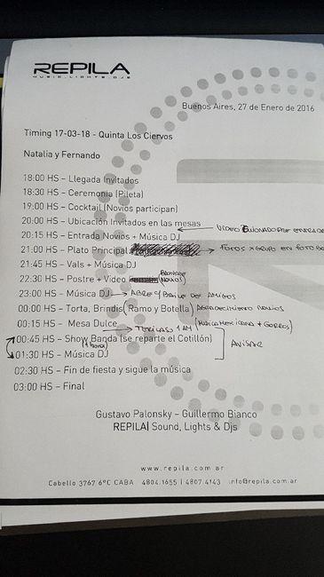 Como organizar los  horarios - 1