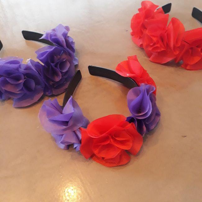 Mis vinchas de flores diy! 1