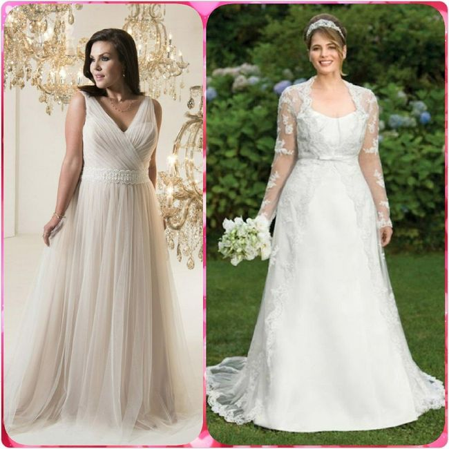 Vestidos para novias con kilitos extras 👰 1