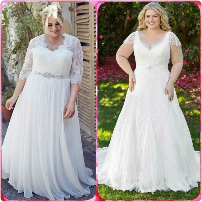 Vestidos para novias con kilitos extras 👰 2