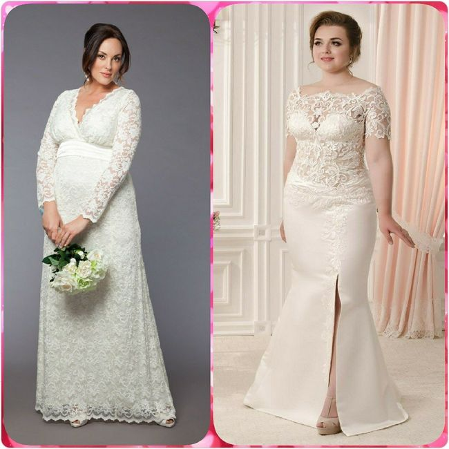 Vestidos para novias con kilitos extras 👰 3