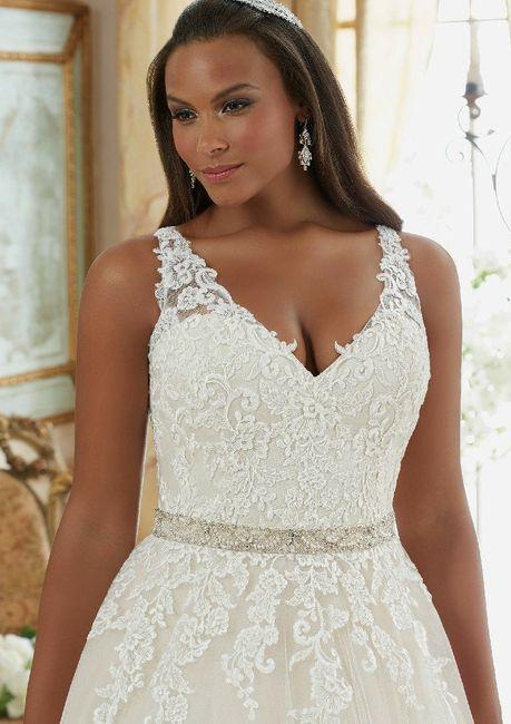 Vestidos para novias con kilitos extras 👰 4