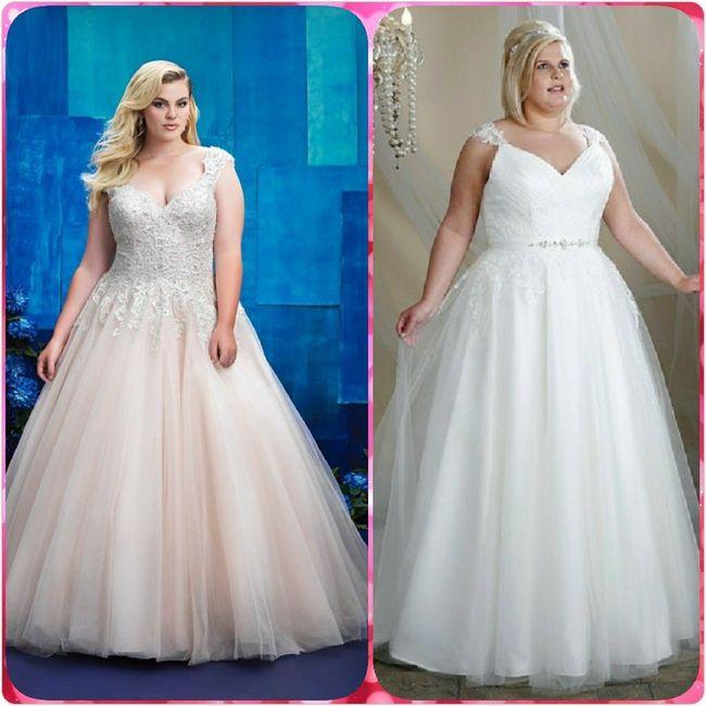Vestidos para novias con kilitos extras 👰 5