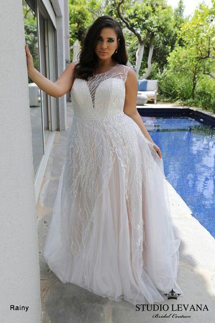 Vestidos para novias con kilitos extras 👰 9