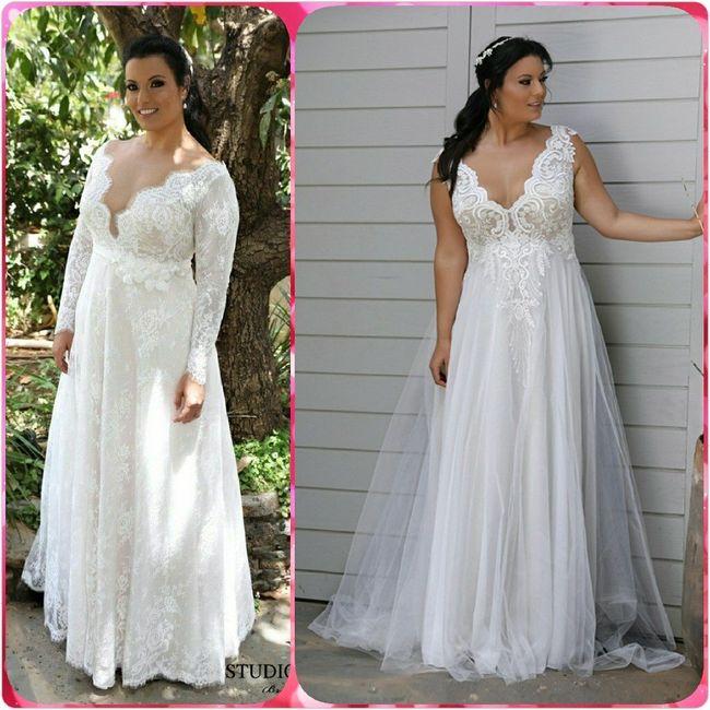 Vestidos para novias con kilitos extras 👰 10
