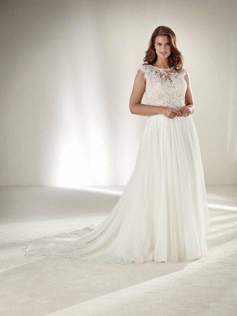 Vestidos para novias con kilitos extras 👰 11