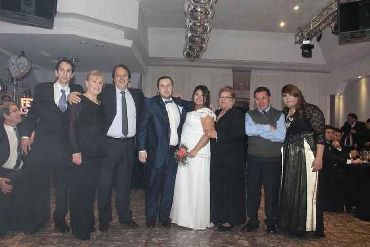 Primrea foto con nuestra familia, los Rendine-Salas