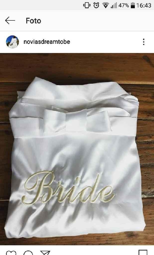 Batas de raso para la novia - 1