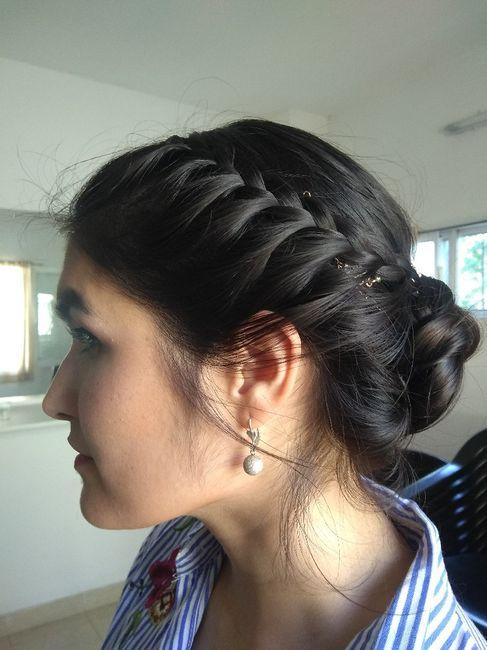 1° Prueba Peinado y Makeup (a 22 dias!! ❤️) 1