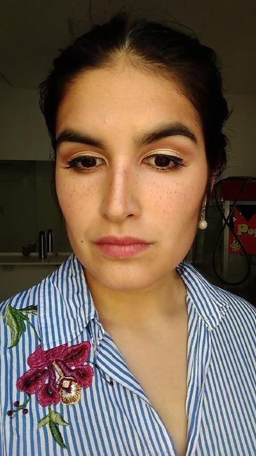 1° Prueba Peinado y Makeup (a 22 dias!! ❤️) 4