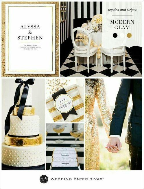 color de mi boda: dorado, blanco y negro. ideas?