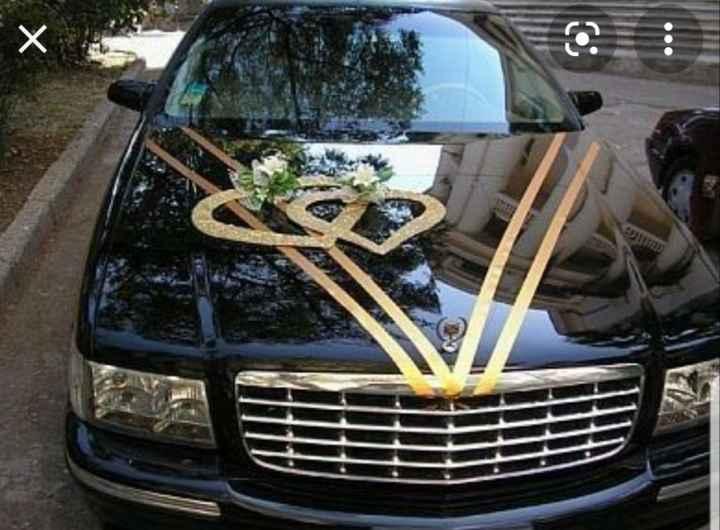 Decoración del auto de boda - 1
