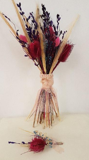 Bouquete y Botoniere de flores secas diy - 1