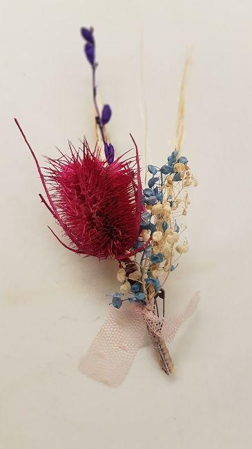 Bouquete y Botoniere de flores secas diy - 2