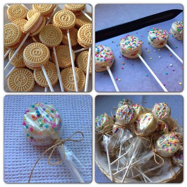 Idea f cil y econ mica para mesa dulce for Como decorar una torta facil y economica