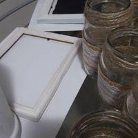 Cuadritos para decoración, frasquitos para los centros de mesa