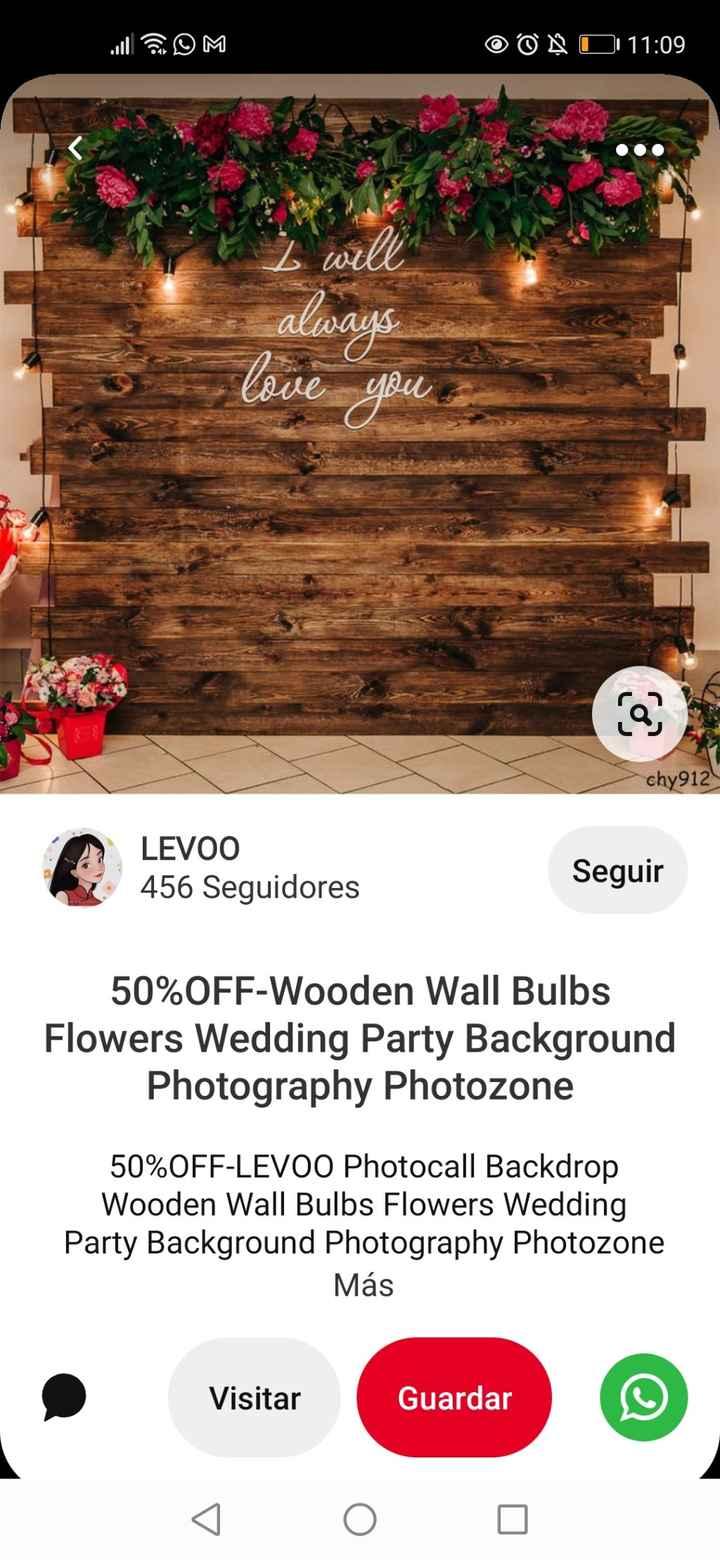 Pensaron en tener un sector destinado para fotos? Adjunto ideas de photobooth - 1