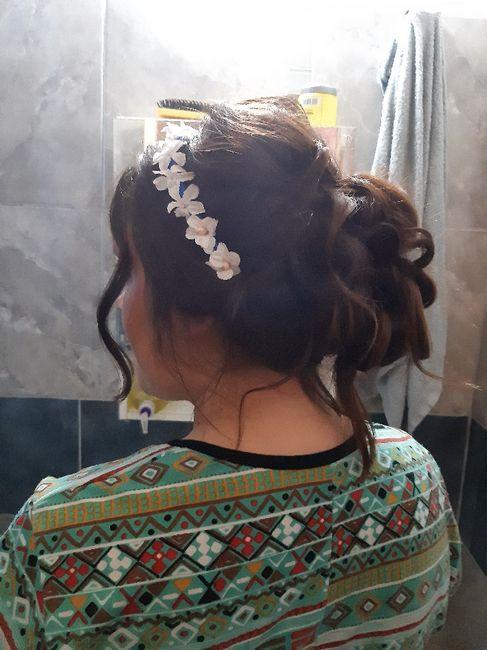 Ayer, prueba de maquillaje y peinado 🥰 4