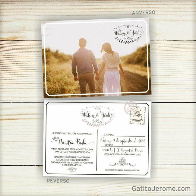Invitaciones - Save the date ? 1