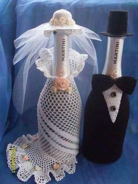 Deco para las botellas de champagne