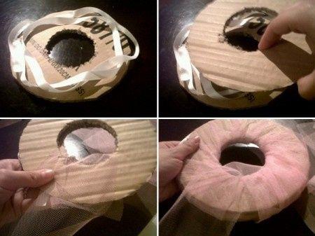Como hacer pompones de tul! 3