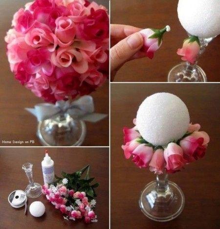 Centro de mesas con rosas - Centro de mesas flores ...