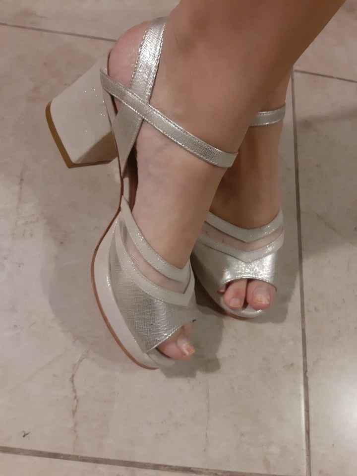 Zapatos de taco bajo para casarse - 1