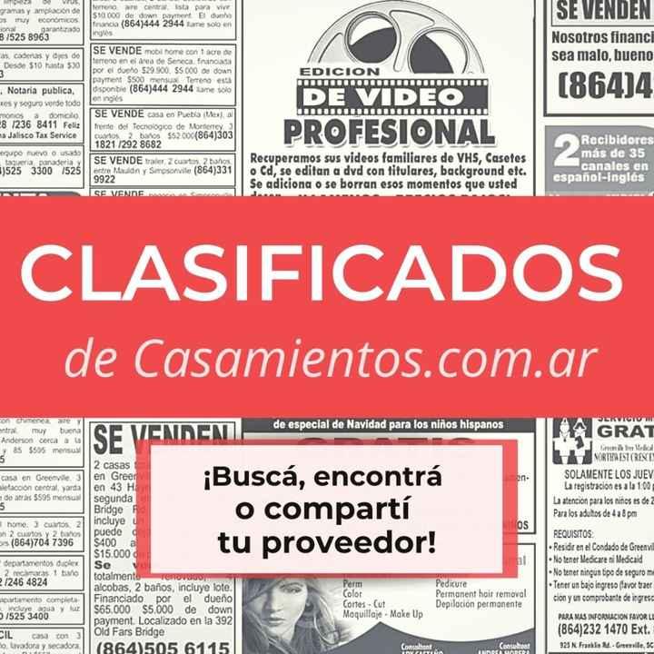 ¿Buscás y/o encontrás? Los clasificados de Casamientos.com.ar - 1